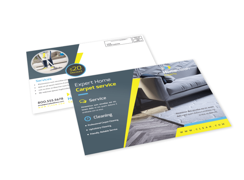 Cleaning Service EDDM Postcard Template Preview 1