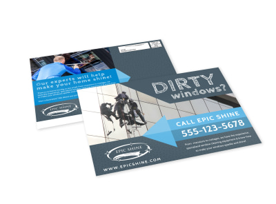 Design custom cleaning postcards online mycreativeshop window cleaning eddm postcard template wajeb Gallery