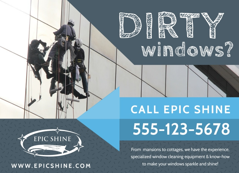 Window Cleaning EDDM Postcard Template Preview 2