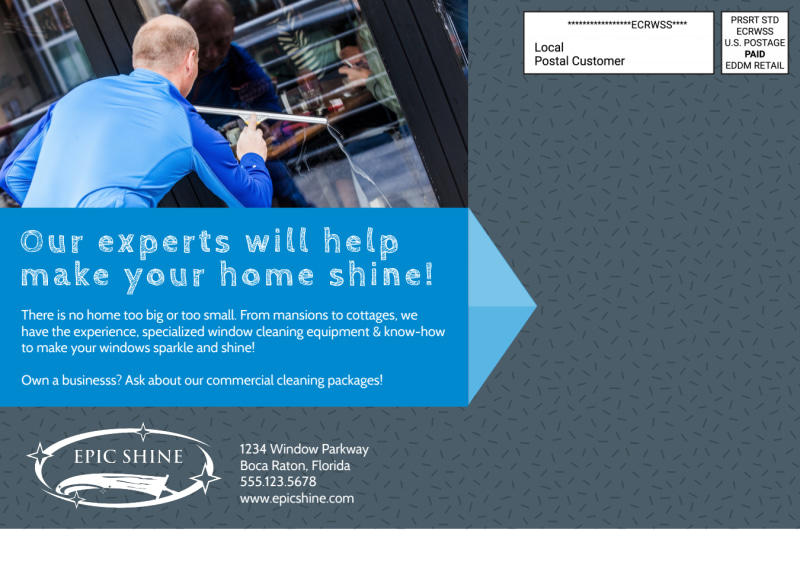 Window Cleaning EDDM Postcard Template Preview 3