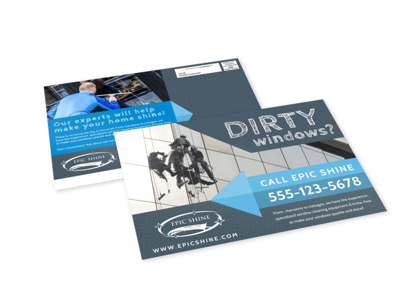 Window Cleaning EDDM Postcard Template Preview 1