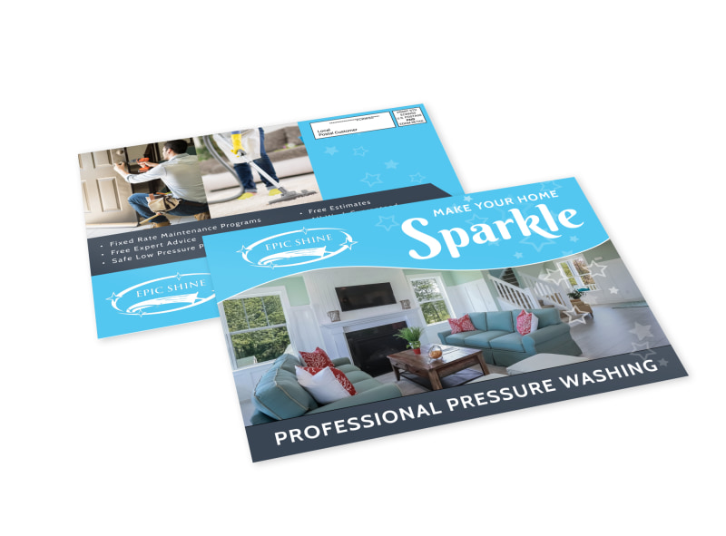 Pressure Washing EDDM Postcard Template Preview 4