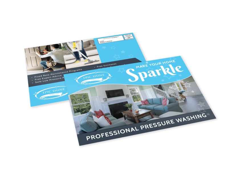 Pressure Washing EDDM Postcard Template Preview 1