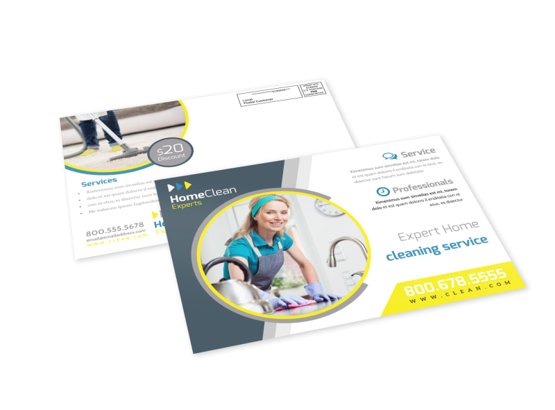 House Cleaning EDDM Postcard Template Preview 4