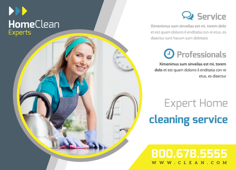 House Cleaning EDDM Postcard Template Preview 2