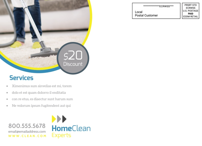 House Cleaning EDDM Postcard Template Preview 3