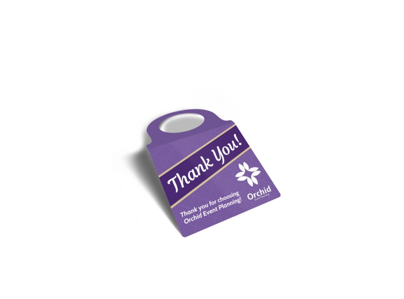 Beautiful Thank You Bottle Tag Template