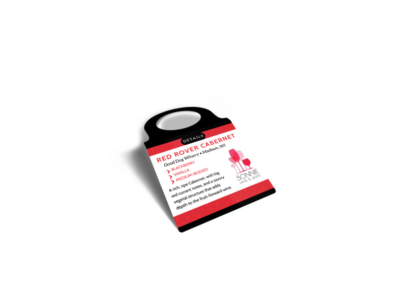 Wine Details Bottle Tag Template Preview 3