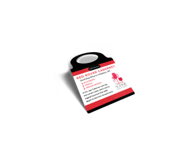 Wine Details Bottle Tag Template preview