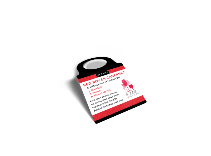 Wine Details Bottle Tag Template Preview 1