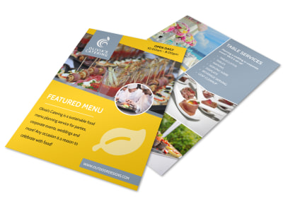 Catering Menu Flyer Template preview
