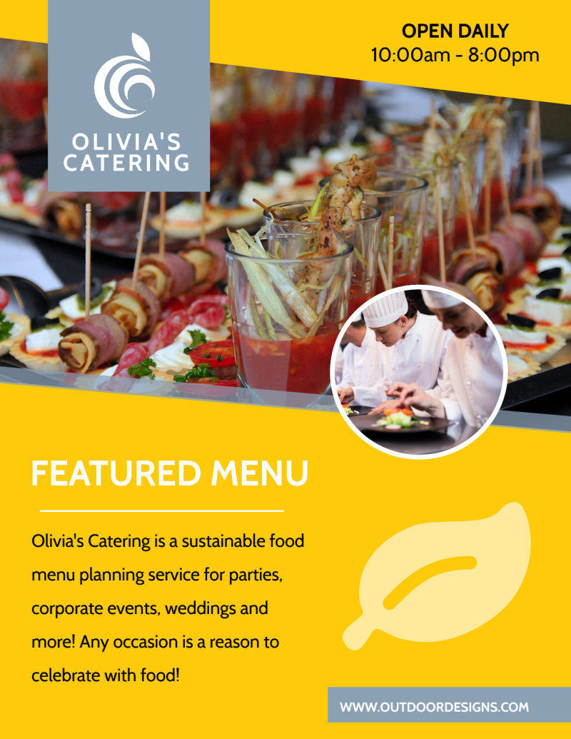 Catering Menu Flyer Template Preview 2