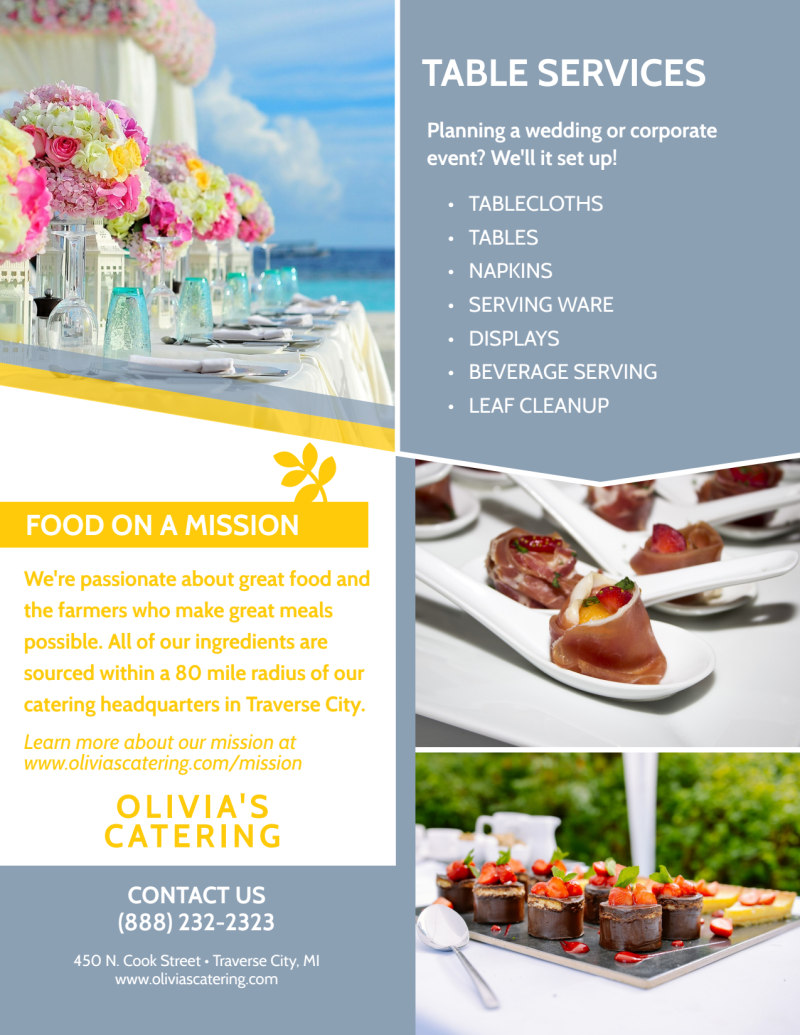 Catering Menu Flyer Template Preview 3
