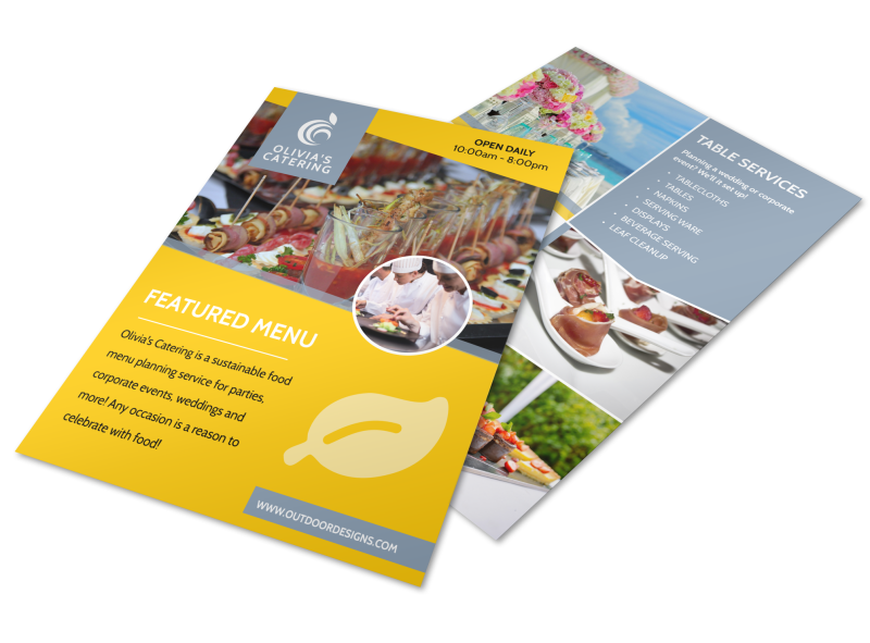 Catering Menu Flyer Template Preview 1