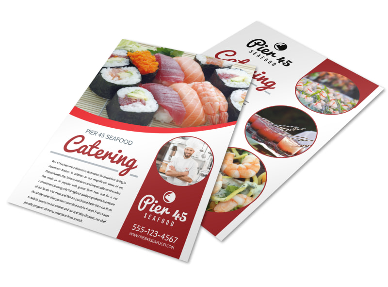 Catering Services Offered Flyer Template Preview 4