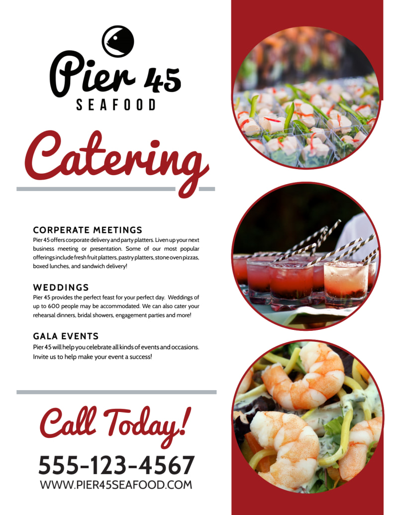 Catering Services Offered Flyer Template Preview 3