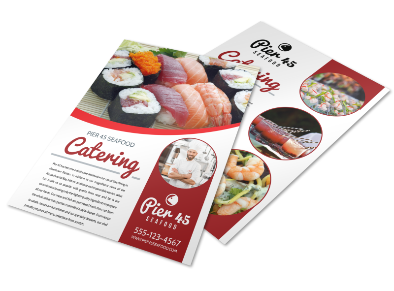 Catering Services Offered Flyer Template Preview 1