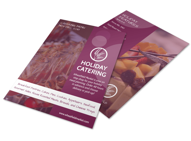 Holiday Catering Specials Flyer Template Preview 1