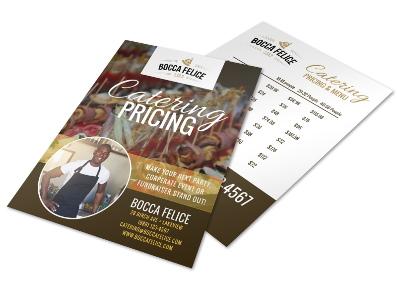 Catering Pricing Options Flyer Template