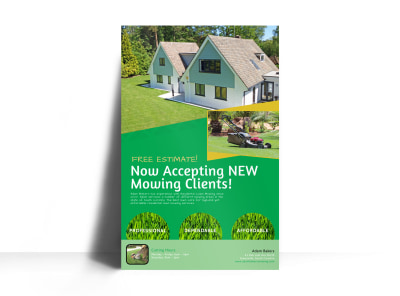 Lawn Mowing Service Options Poster Template preview