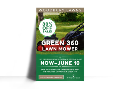 Lawn Mowing Special Offer Poster Template preview