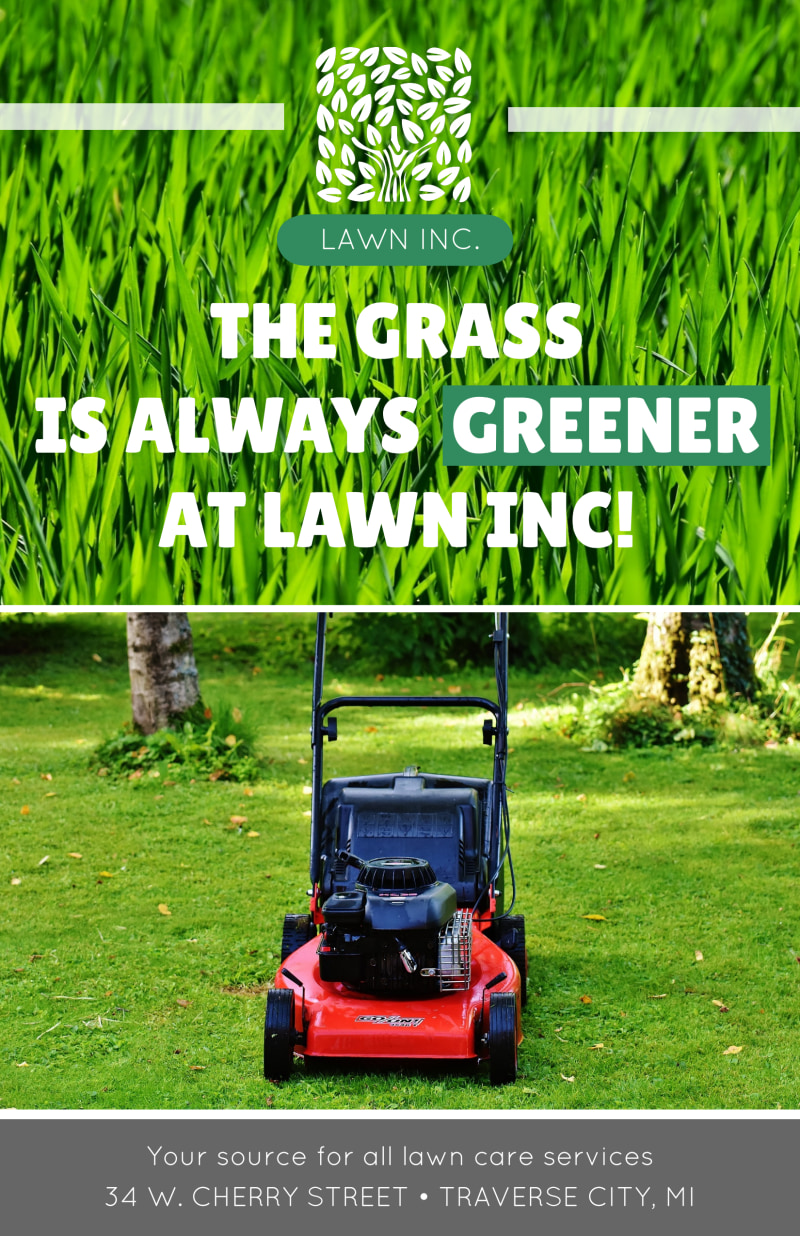 Lawn Mowing About Us Poster Template Preview 2
