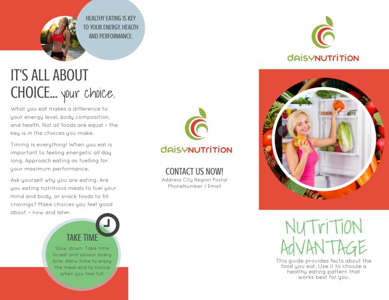 Advantage Nutrition Education Tri-Fold Brochure Template Preview 2