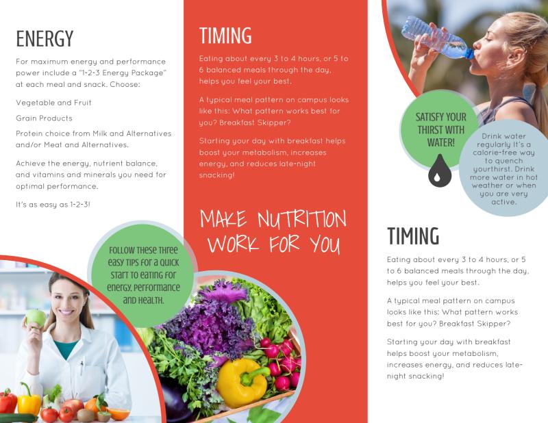 Advantage Nutrition Education Tri-Fold Brochure Template Preview 3