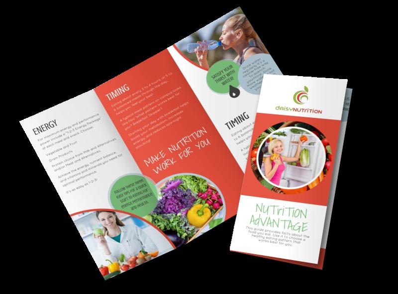 Advantage Nutrition Education Tri-Fold Brochure Template Preview 1