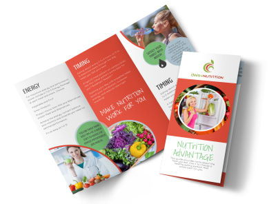 Advantage Nutrition Education Tri-Fold Brochure Template preview