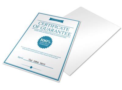 Certificate Of Guarantee preview