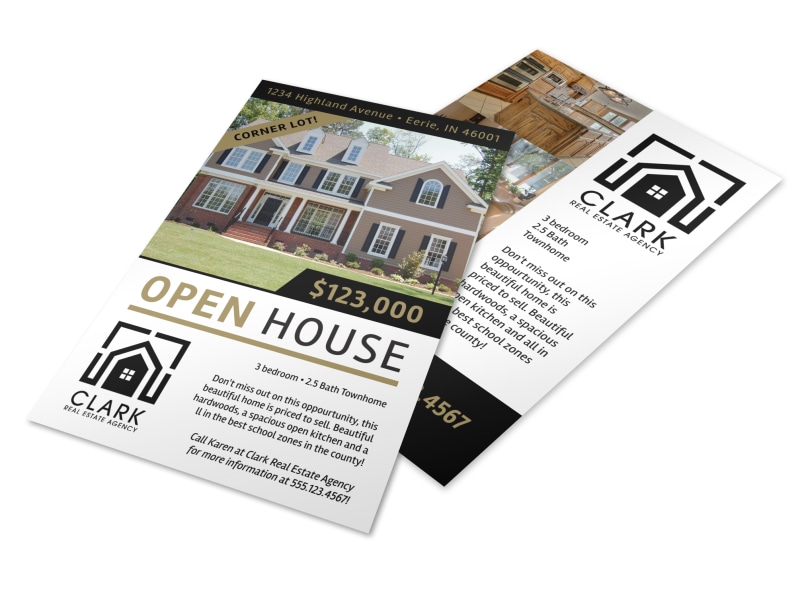 Simple open house flyer template mycreativeshop for Open house brochure template