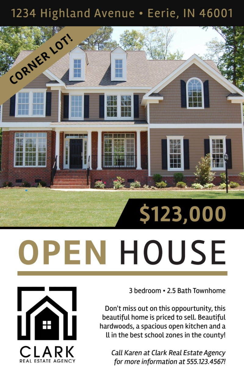 Simple Open House Flyer Template Preview 2