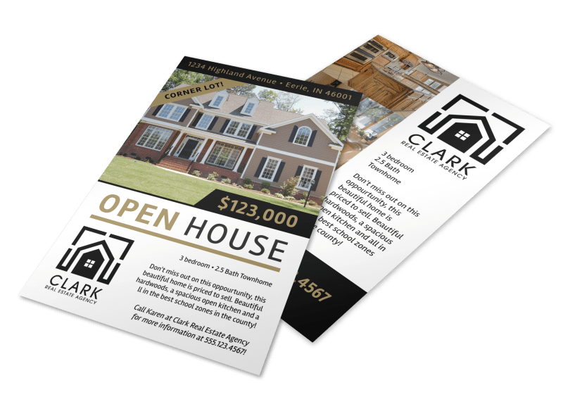 Simple Open House Flyer Template Preview 1