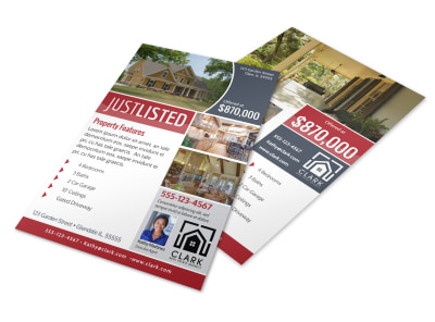 Garden Street Just Listed Flyer Template preview