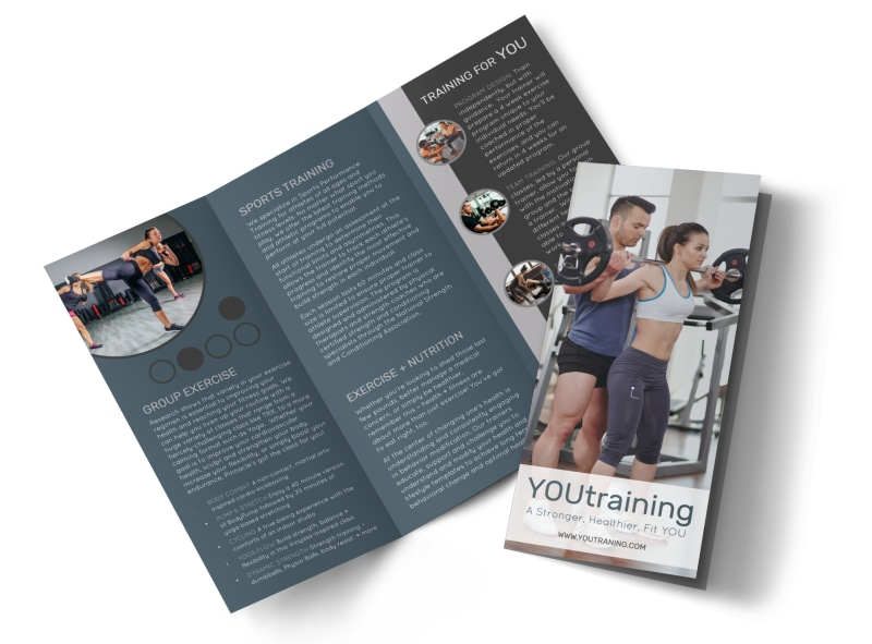 Trainer Services Offered Tri-Fold Brochure Template