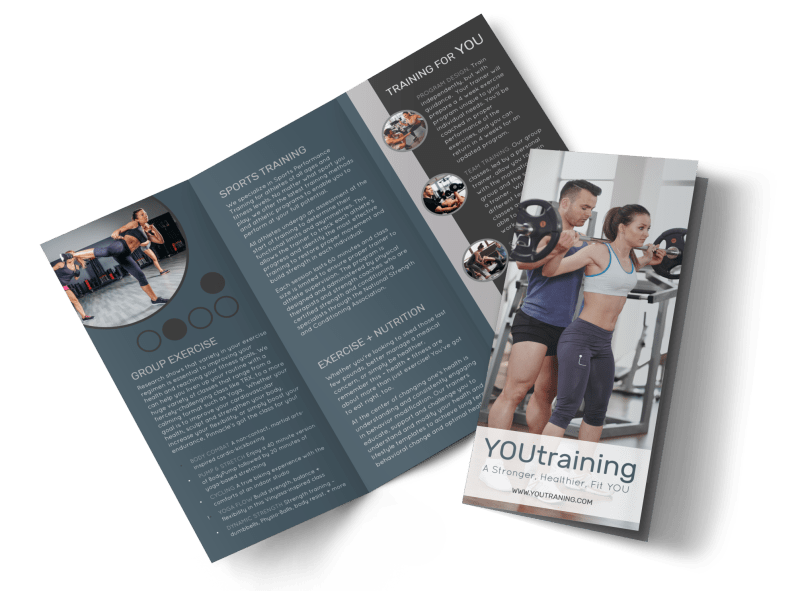 Trainer Services Offered Tri-Fold Brochure Template Preview 1