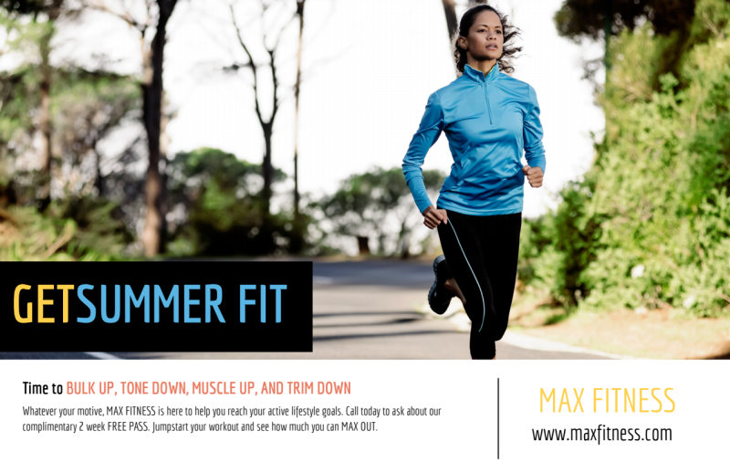 Summer Fit Personal Trainer Postcard Template Preview 2