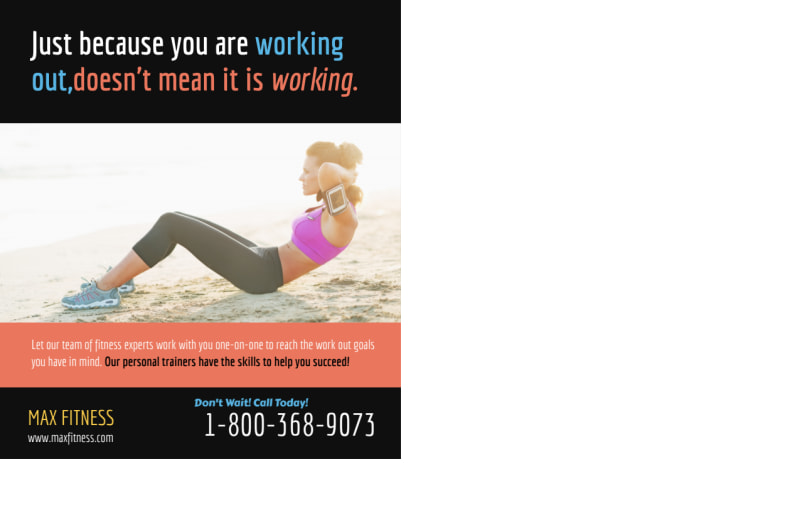 Summer Fit Personal Trainer Postcard Template Preview 3