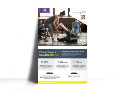Personal Trainer Services Offered Poster Template preview