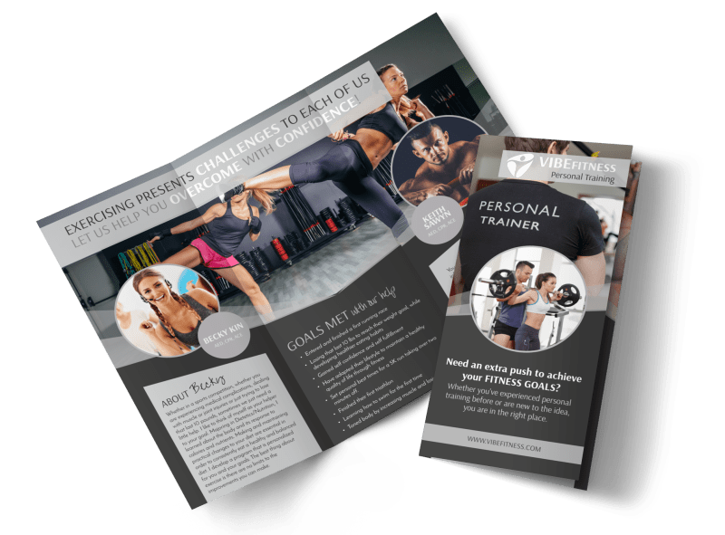 Elite Personal Trainers Tri-Fold Brochure Template Preview 1