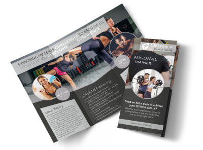 Elite Personal Trainers Tri-Fold Brochure Template preview