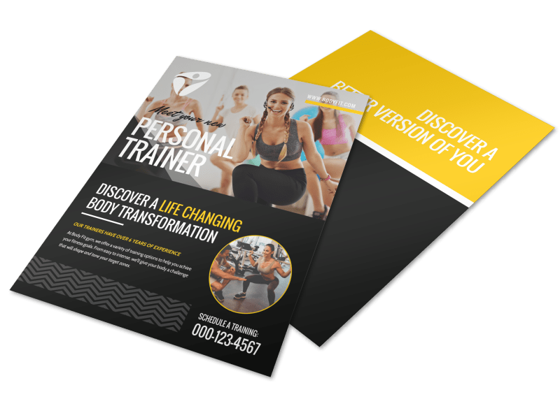 About The Personal Trainers Flyer Template