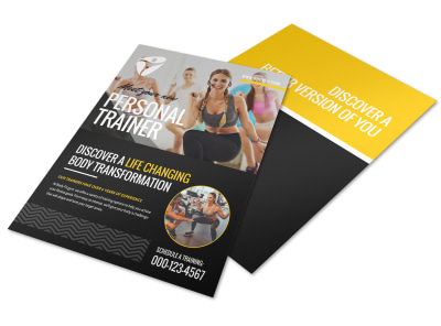 About The Personal Trainers Flyer Template preview