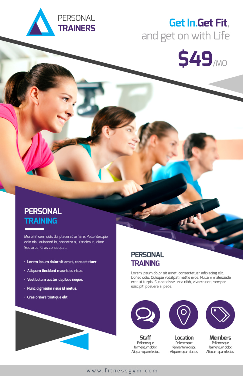 Our Personal Trainers Poster Template Preview 2