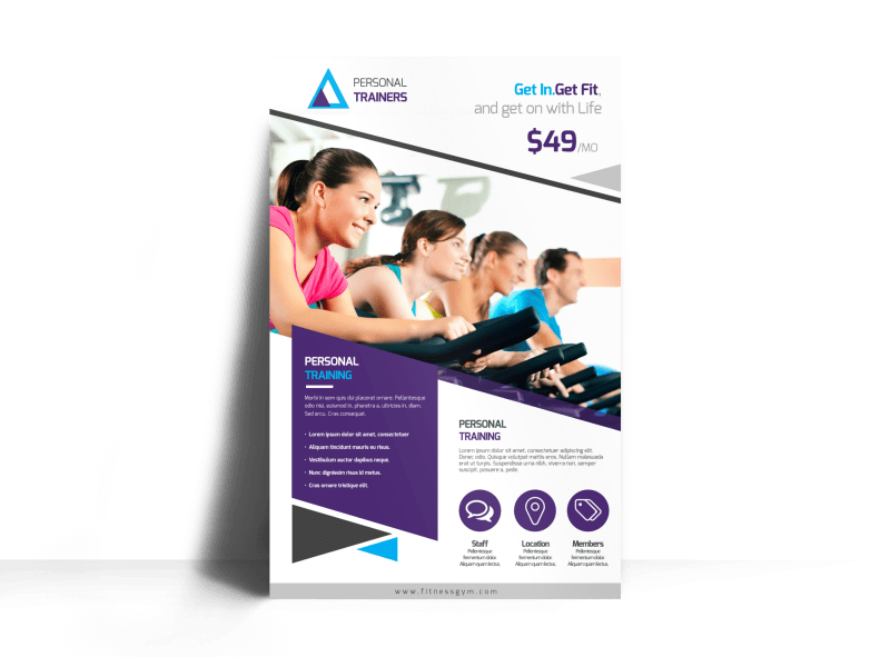 Our Personal Trainers Poster Template Preview 1
