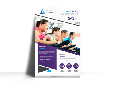 Our Personal Trainers Poster Template preview