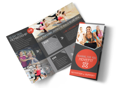 Trainer Pricing Options Tri-Fold Brochure Template preview