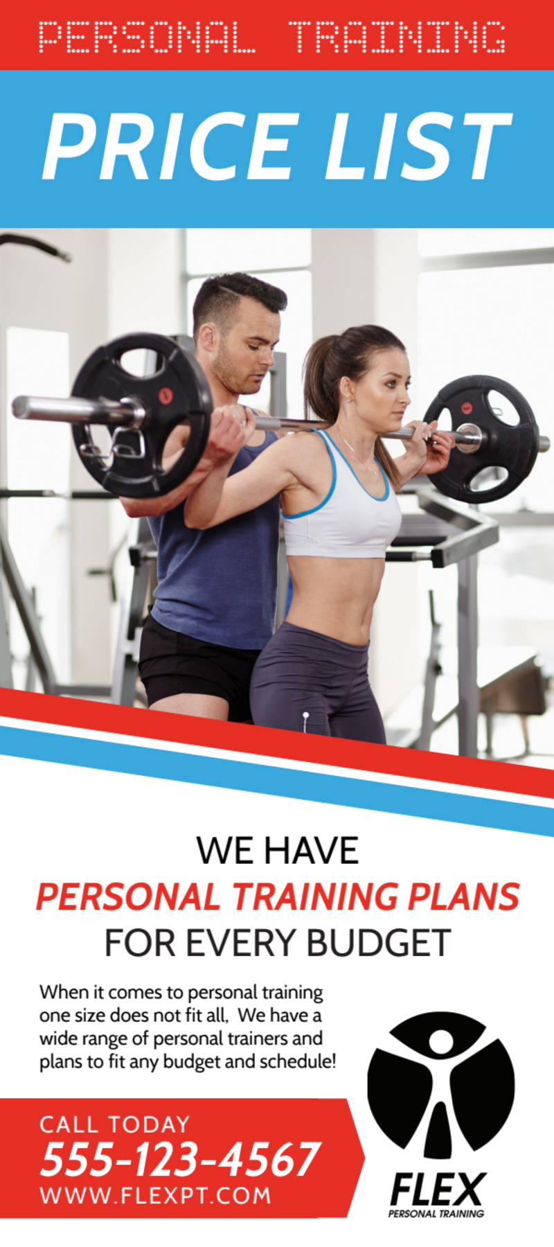Personal Trainer Pricing Plans Flyer Template Preview 2