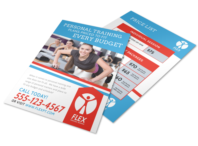 personal training pricing flyer template mycreativeshop